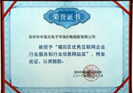 2010年福田区优秀互联网企业行业服务和行业信息网站奖